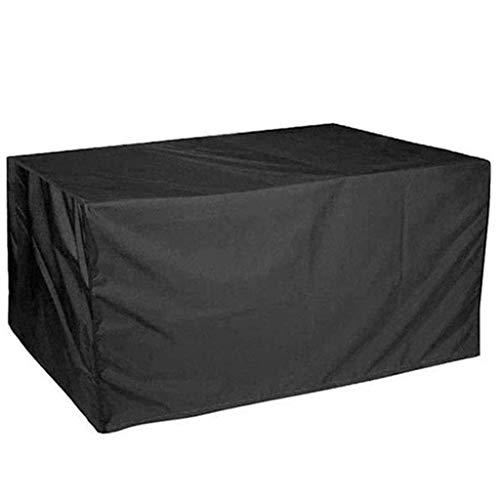 Accesorios para el hogar Fundas para Muebles de jardín Impermeable 140x140x80cm Funda para Muebles de Patio Impermeable A Prueba de Polvo Lona Resistente al desgarro Sofá Juegos de Mesa y Silla Neg