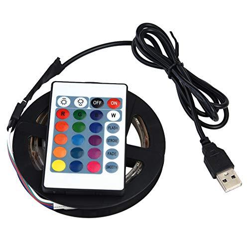 Jingyi Flexibles LED-Licht, DC 5V USB-LED-Streifen 5050 RGB wasserdichte Flexible LED für TV-Hintergründe Licht, energiesparender USB-LED-Streifen(5m 150LED)