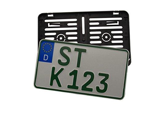 EU-Kennzeichen 255x130mm für Landwirtschaft oder Leichtkraftrad inkl. Kennzeichenhalterung