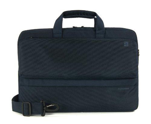 Tucano BDR15-B Dritta Slim Tasche für Notebook/MacBook Pro 39,6 cm (15,6 Zoll) bis 43,2 cm (17 Zoll) blau