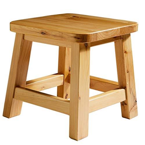 Sturdy stool - Cypress Houten Kruk Vierkante Kruk Effen Hout Kinderen Schrijven Kruk Houten Bench Schoenen Schoenen Bench Garden Wind Kruk Home