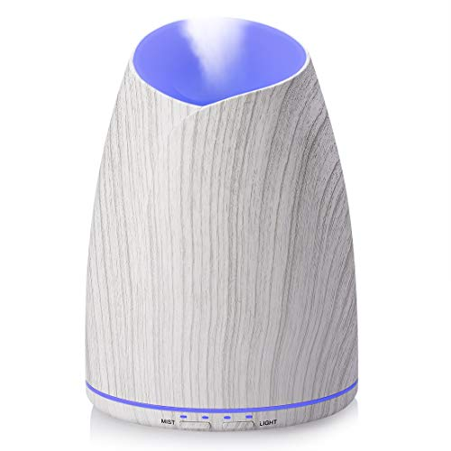 Sealive - Difusor de aceite esencial de 500 ml, humidificador, nebulizador fresco para aromaterapia, con 7 luces LED de colores, apagado automático sin agua y modo nebulización