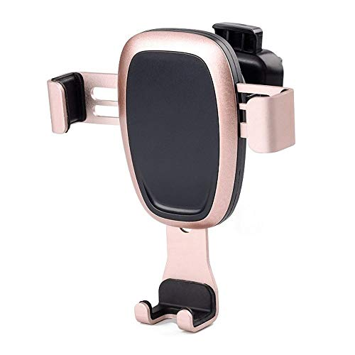 Car Phone Mount Car air-Conditioning air Outlet Multifunctional Gravity Suction Cup car Phone Holder (Rose Gold)