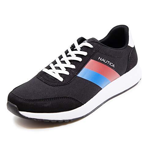 Nautica Men's Casual Lace-Up Fashion Sneakers Oxford Comfortable Walking Shoe-Aport-Black/Royal-13
