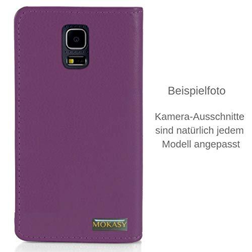 MOKASY Mate 7 Hülle kompatibel mit Huawei Ascend ☑️ Mate 7 ☑️ unzerbrechliche Schutzhülle Handyhülle aus Silikon mit Magnetverschluss und Fach Lila - 3