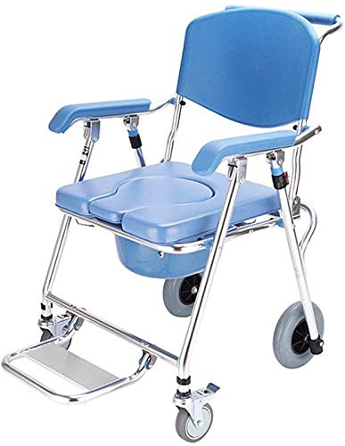 HMMN 4 en 1 KheelsCommode Silla, Inodoro Plegable, Adecuado para Mujeres Embarazadas con discapacidades ancianas