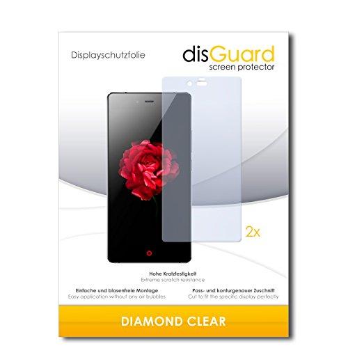 disGuard 2 x Bildschirmschutzfolie ZTE Nubia Z9 Max Schutzfolie Folie DiamondClear unsichtbar
