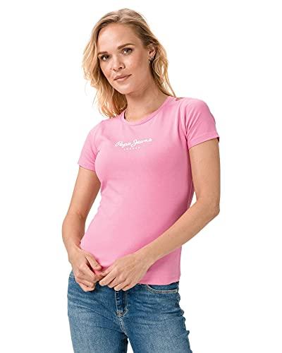Pepe Jeans Denim Vest, Rosa (Pink 325), Large para Mujer