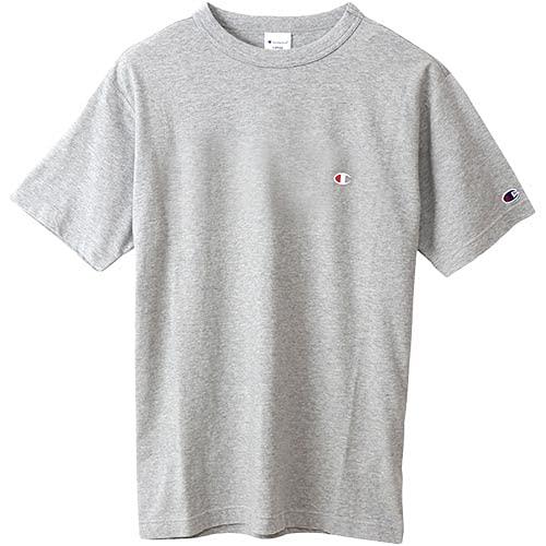 [チャンピオン] Tシャツ 半袖 綿100% 定番 ワンポイントロゴ刺繍 ショートスリーブTシャツ C3-P300 メンズ オックスフォードグレー L