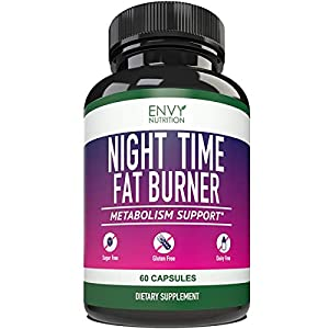 Night Time Fat Burner – Metabolism Support, Appetite suppressant and Weight Loss Diet Pills for Men and Women – 60 Capsules.