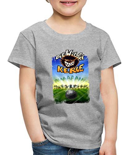 Die Wilden Kerle Angriff Kinder Premium T-Shirt, 122-128, Grau meliert