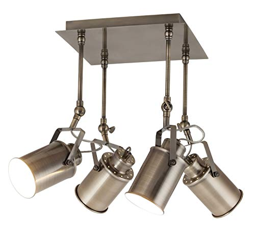 Plafondlamp E27, peter, brons, industrieel design, lichtladen, plafondlamp