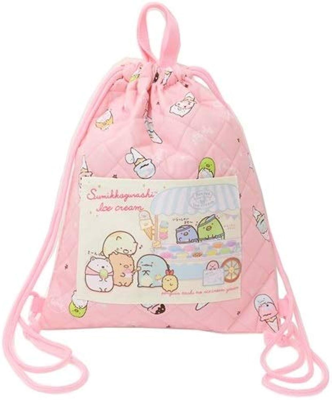 Sumikko Gurashi Quilt Processing Backpack Bag 31×H39cm Pink K-1014A