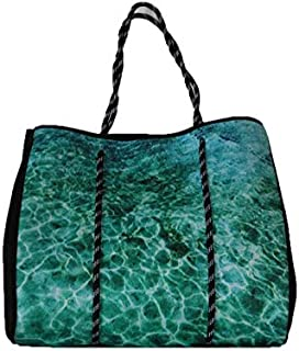 Abby Marshall AM15 Rockpool Tote, Turquoise, 42cm x 36.5cm x 15cm