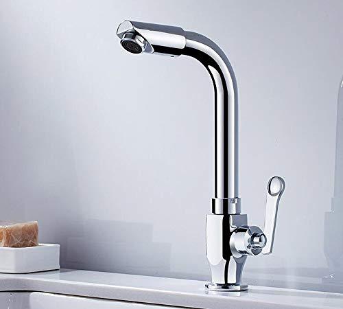 XHNXHN Grifo completo cuerpo de cobre solo plato frío lavabo lavabo lavabo lavabo lavabo fregona grifo de la piscina se puede girar