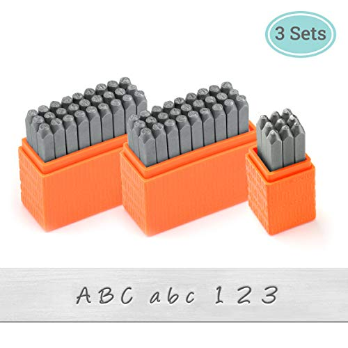 ImpressArt -The Original Basic Bridgette Letter & Number Metal Stamping Kit - (63 Piece Punch Set) Complete Set of 3 Metal Stamps - Uppercase/Lowercase/Number - 3MM