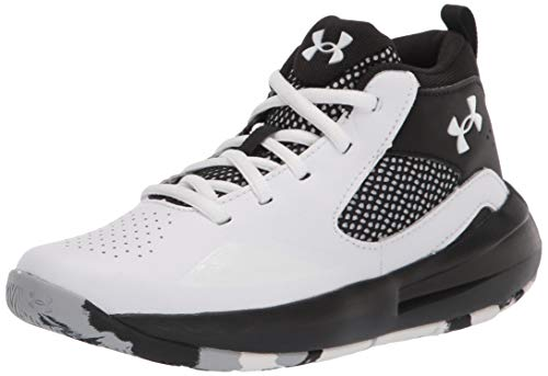 Under Armour Grade School Lockdown 5, Zapatillas de Baloncesto Unisex Adulto, Blanco Negro Blanco 100, 37.5 EU