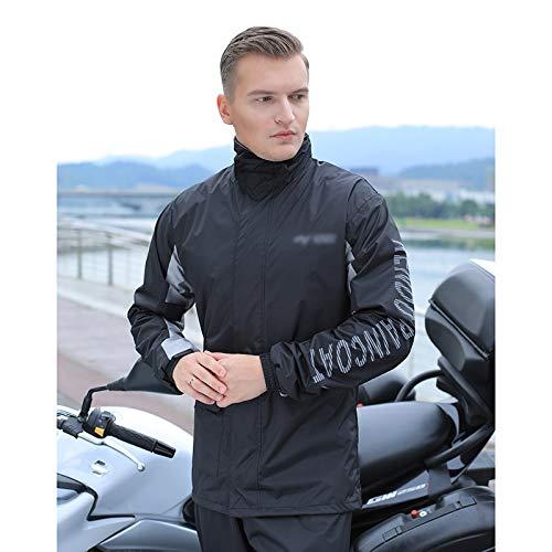 SYFO Tragbare Regenbekleidung Herren Regenmantel Regenhose Set Outdoor Multifunktionale wasserdichte Jersey Arbeitskleidung Leicht Leicht zu tragen (Color : Black, Size : XL)