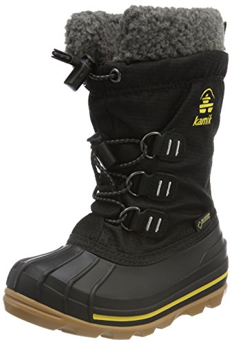 Kamik Unisex-Kinder CARMACKGTX Schneestiefel, Schwarz (Black/Yellow-Noir/Jaune Byl), 37 EU