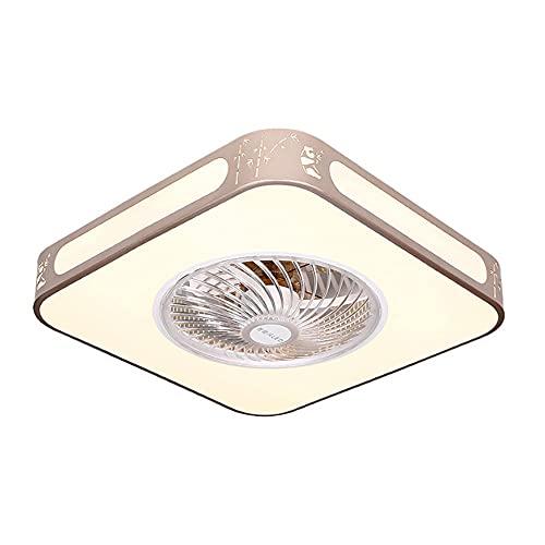 Iluminación de ventilador de techo, control remoto regulable moderno DIRIGIÓ Luz de techo de ventilador, ventilador silencioso Ajustable 4 velocidades, control de bluetooth, lámpara de ventilador de s