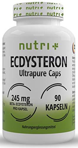 Ecdysteron Kapseln hochdosiert + vegan - 245mg pro Kapsel - 95% beta Ecdysteron - Cyanotis Arachnoideae Extrakt (besser als Spinat) - 90 Capsules - Fitness & Bodybuilding