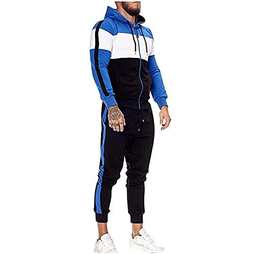 GOUWUCHE | Herren Trainingsanzug | Jogginganzug | Sportanzug | Jogging Anzug | Hoodie-Sporthose | Jogging-Anzug | Trainings-Anzug | Jogging-Hose Fitness Sporthose und Trainingsjacke Modell