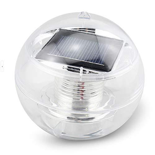 HuntGold 1 x étanche solaire Power LED Lumière Jardin cour pelouse chemin piscine Décor lampe (Coloré)