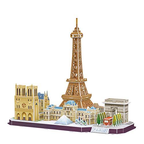 World Brands Torre Eiffel Paris, Puzzles para Adultos y Niños, Maquetas para Montar, Rompecabezas 3D, Regalos Divertidos, Cultura, Viajar Desde Casa, Multicolor (MC254H)