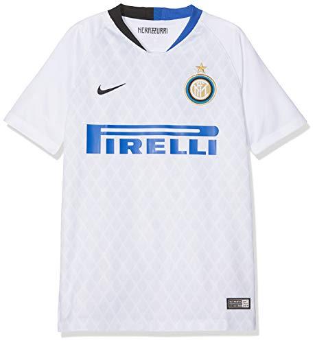 Nike Inter Away Std J Fußballtrikot Unisex - Kinder L Bianco/Nero/Full Sponsor