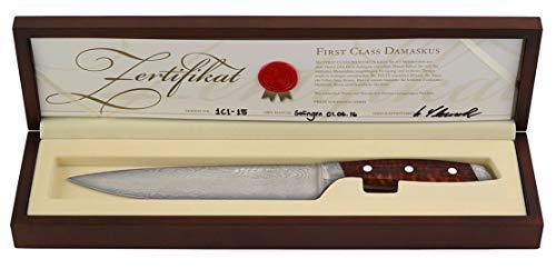 Masterpiece Felix Solingen First Class Damascus Kochmesser/Damastmesser Snakewood 21cm Klinge + Schneidbrett Collection