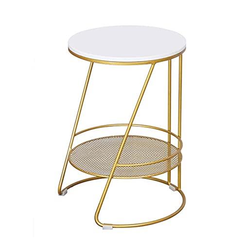 Mesa auxiliar moderna minimalista redonda de mármol, pequeña mesa de centro redonda creativa para librerías, oficinas, salas de estar, recreos (55 x 50 cm), color negro