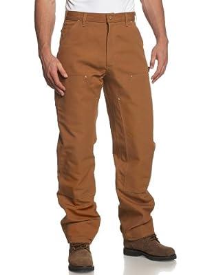 Carhartt Men's Firm Duck Double-Front Work Dungaree Pant - 32W x 30L - Carhartt Brown