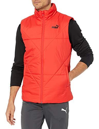 PUMA Men's Essentials Padded Vest, high Risk red, S