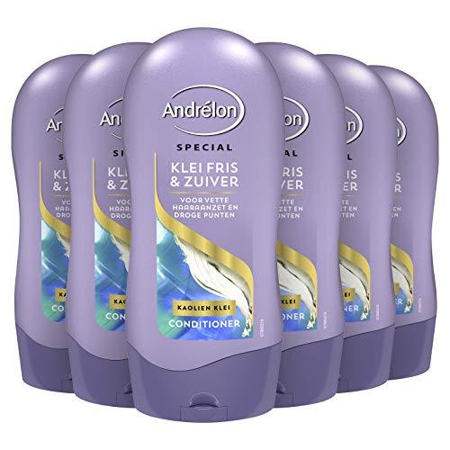 Andrélon Special Klei Fris & Zuiver Conditioner voor vette haaraanzet en droge punten - 6 x 300ML - Voordeelverpakking