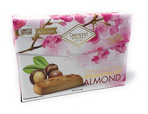Diamond Bakery Hawaiian Shortbread Macadamia Nut Cookies, Almond 4 ounce (113g)