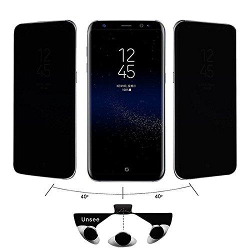 ajzdnzvr para Samsung Galaxy S9 Plus, protetor de tela de vidro temperado com privacidade antiespionagem, capa completa 3D transparente