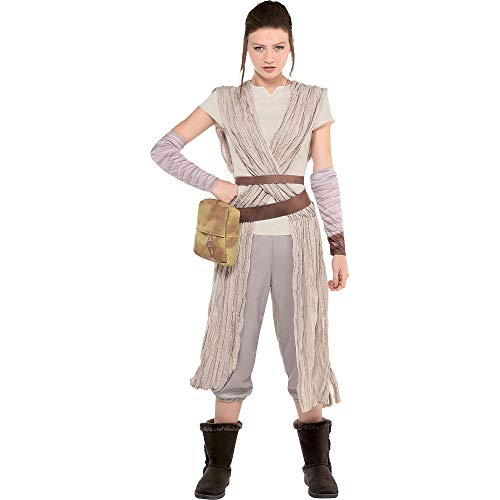 Costumes USA Star Wars 7: The Force Awakens Rey Costume for Adults, Size Large, Includes a Jumpsuit and Arm Warmers