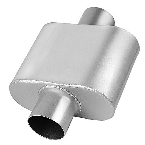 AUTOSAVER88 3' Inlet/Outlet Muffler, Single Chamber Universal Stainless Steel, High Performance Exhaust Muffler For Cars