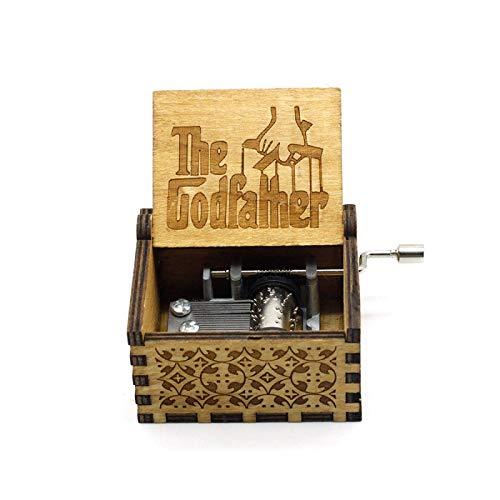WYZQ Caja de música portátil The Gadfather, Conjunto Sagrado, Caja Musical para niños, Tallado mecánico, papá le da a su Hija una Caja de Regalo 16