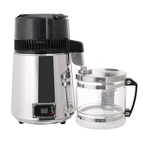 STZJBD Wasserdestillierer, Edelstahl-Destillations-Reinwassermaschine, Digitalanzeige Destillierwassermaschine (4L 750W)