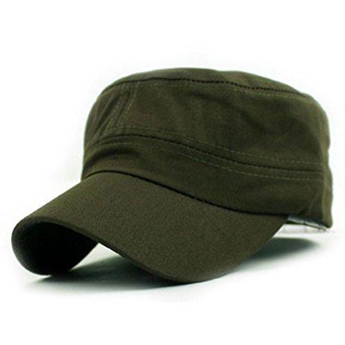 EKIMI Baseball Cap Plain Vintage Army Military Cadet Style Cotton Adjustable Cap Hat (Army Green)