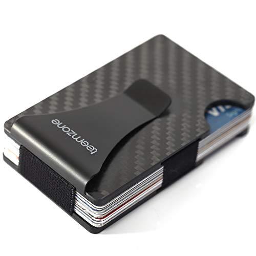 Minimalist Carbon Fibre Mens Wallet Slim Wallet Rfid Blocking Front Pocket Rfid Wallet Travel Money Clip For Men Card Front Pocket Creidt Card