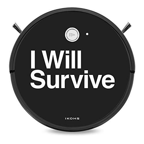 IKOHS NETBOT S15 - Saugroboter,Selbstaufladender Roboterstaubsauger für Hartböden, ideal für Teppiche, Tierhaar optimiert, Kompatibel Alexa und Google Home (Netbot S15 / I Will Survive)