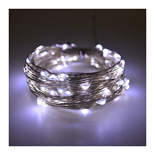 LED Solar String Lights Outdoor 2 Modes Wire Starry Fairy Lights,Lights for Bedroom, Christmas, Parties Decoration (Color : White)