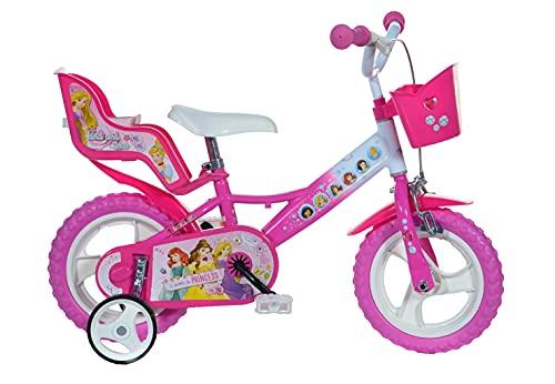 Dino Bikes - 124 RL-PSS - Vélo pour Fille 12 de 3 à 5 Ans - Princesses