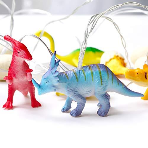 YEAMAR LED Dinosaur String Lights,8ft 12LED Dinosaur/Egg String Lights,Battery Operated String Lights for Indoor/Outdoor Children Bedroom Nursery Decoration