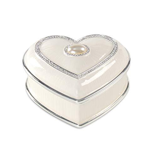 LASODY HEART PEARL METAL JEWELRY BOX JEWELRY ORGANIZER BOX JEWELRY CHESTS,TRINKET BOXES FOR WOMEN