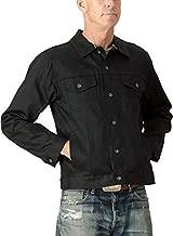 Tellason Made in USA Men's 13.5 oz Japanese Kaihara Raw Selvedge Black Denim Jean Jacket (L)