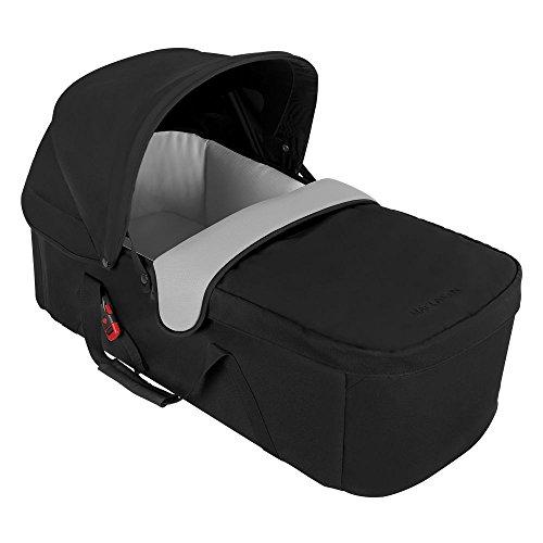 Maclaren Capazo - Entorno Plano Ideal para Recién Nacidos de Hasta 20 Lb / 25.6 Pulgadas, Forro Transpirable, Black/Silver