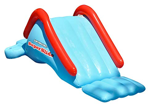 Swimline SuperSlide Inflatable In Ground Pool Water Slide by